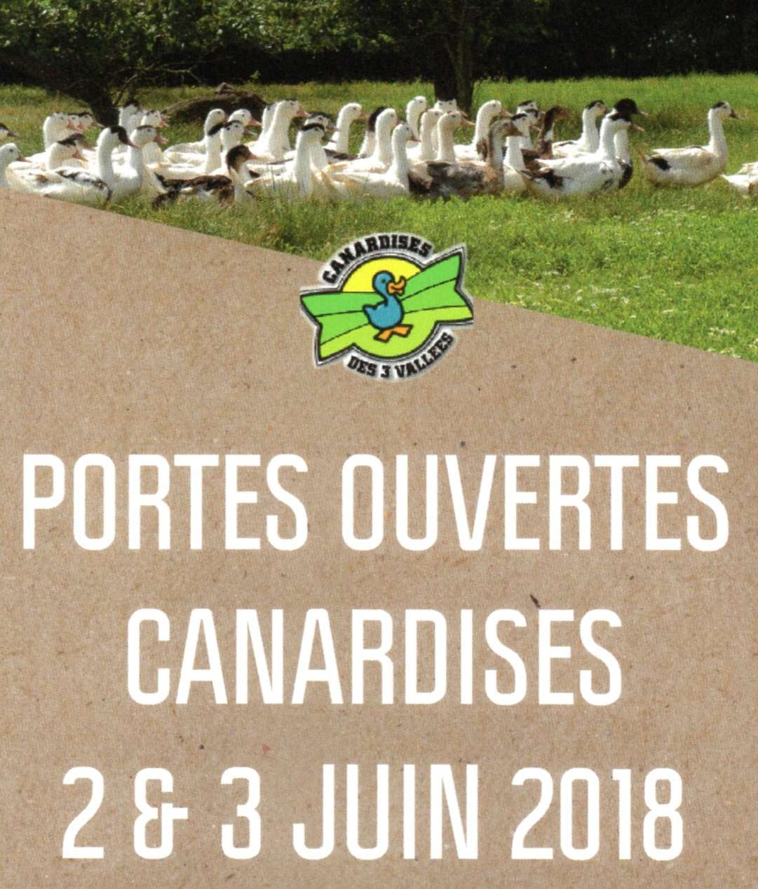 Portes ouvertes Canardises 2 et 3 juin 2018